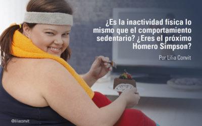 ¿Es la inactividad física lo mismo que el comportamiento sedentario? ¿Eres el próximo Homero Simpson?